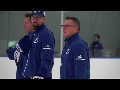 Stacy Roest mic'd up at Tampa Bay Lightning development camp