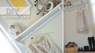 Diy Clothing Rack!! Inexpensive Decorative And Functional | Small Spaces - Stylebynap85