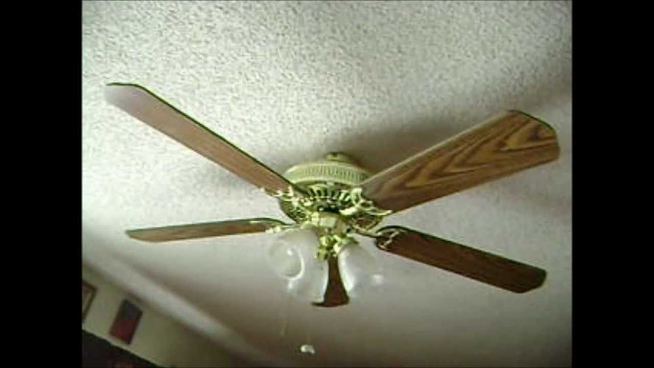 Hampton Bay Landmark Plus Ceiling Fan Youtube