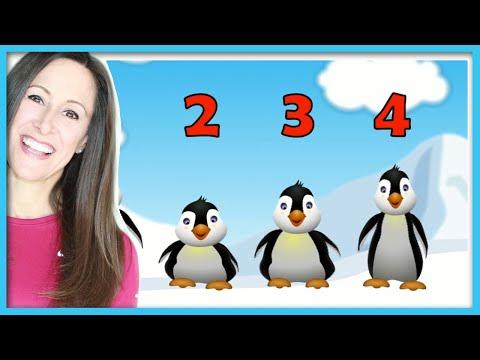 5 Little Penguins in Spanish Children's song    Canción de pingüino para niños   Patty Shukla