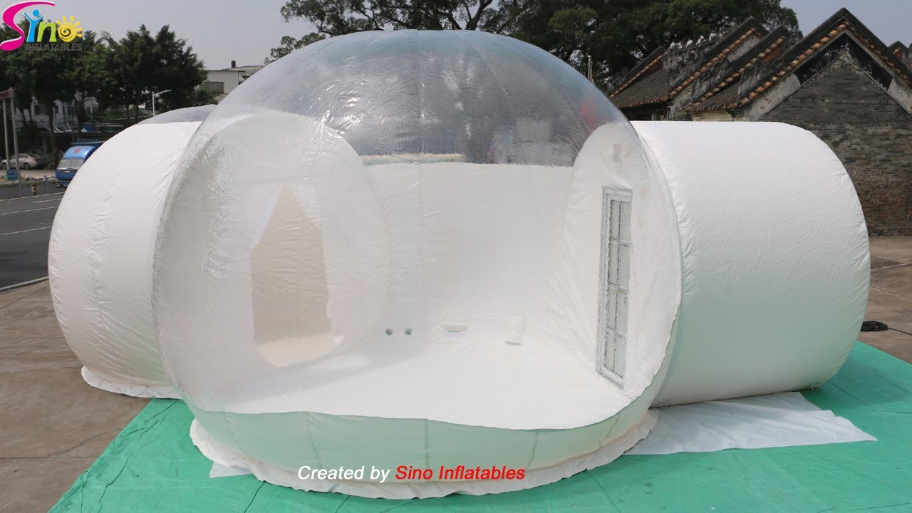 5m clear dome tent bubble lodge hotel with silent blower N aluminium alloy door for resort glamping