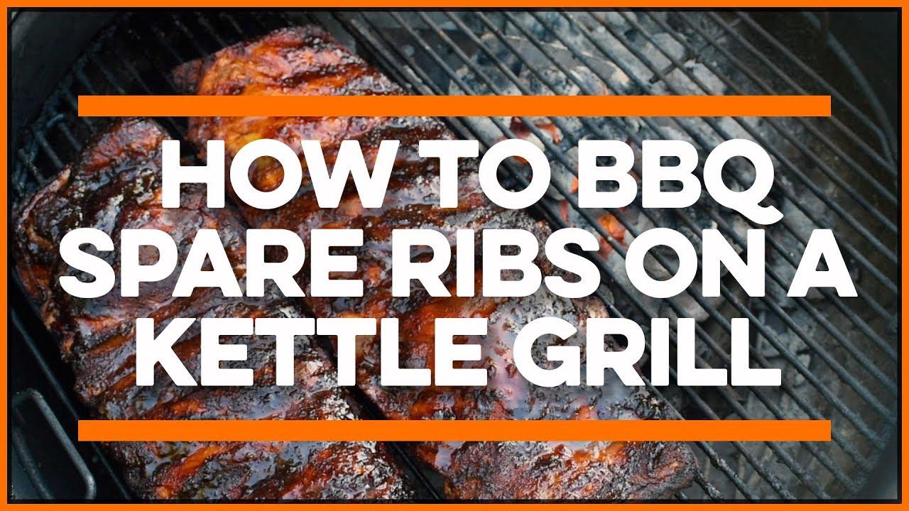 Bbq Ribs On A Charcoal Grill