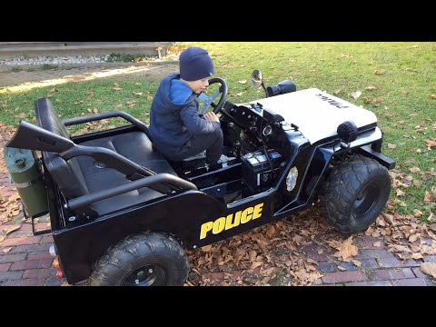 Coming Kids Jip.Police Jeep For Kids Little Heroes Children Motorcar Driven By 3 Year Old Boy