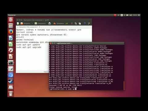 Установка BitTorrent клиента Transmission в GNU/Linux Ubuntu