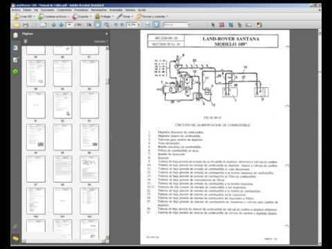 land rover santana 109 - manual de servicio, taller, reparacion