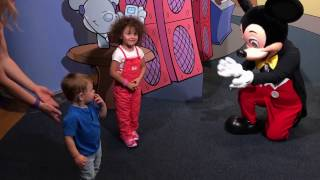 Mickey Mouse Meet and Greet at Walt Disney World's Epcot Character Spot