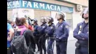 Protesta por el desalojo de la corrala de la Buena Ventura (Málaga)