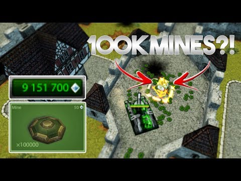 100K MINES?! - Tanki Online EPIC SPACE Save The Gold (Test Server)