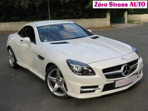 mercedes slk r172 v6 350 7g tronic plus blanc diamant pack. Black Bedroom Furniture Sets. Home Design Ideas