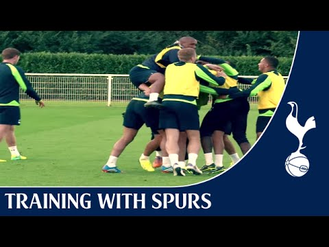 Fantastic goals, a great team celebration and one happy Brazilian!! | Training With Spurs