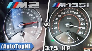 BMW M2 370HP vs 375HP M135i Mosselman 0-240km/h Acceleration by AutoTopNL