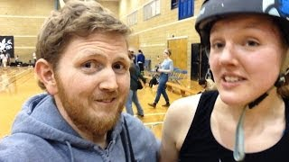 Derby Vlog!  Brighton Rockers vs Paris Rollergirls 15.03.14