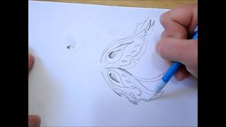 How to draw butterfly/fairy wings