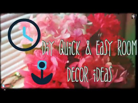 Diy quick and easy room decor ideas youtube for Quick and easy room decor ideas