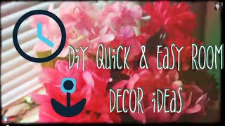 Diy Quick And Easy Room Decor Ideas