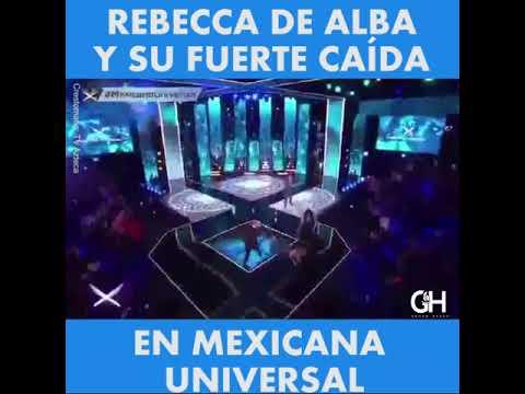 Rebecca de Alba sufre fuerte caída en el programa 'Mexicana Universal'