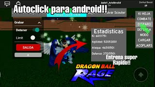 The best Autoclick to train in Dragon Ball Rage!! | Roblox Train super fast!!