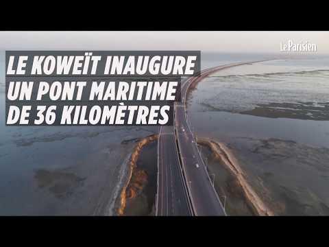 Le Koweït inaugure un pont maritime de 36 kilomètres