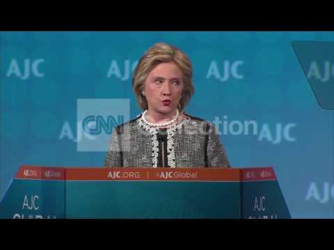 DC:AJC GLOBAL FORUM-HILLARY CLINTON ON DEMOCRACY