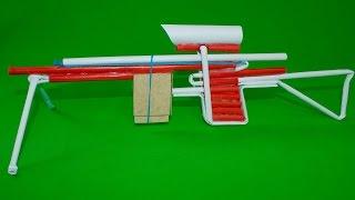 How to Make -Как сделать  Стреляющую Снайперскую винтовку из бумаги(AWP С 5 пулями)