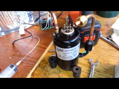 How to build ultra quiet refrigerator air compressor di for Air compressor oil vs motor oil