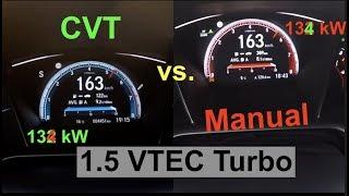 ACCELERATION BATTLE 200 km/h | Honda Civic 1.5 Turbo VTEC | MANUAL vs. CVT