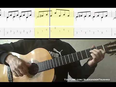 Аллегро - М. Джулиани (Allegro - M.Giuliani) - Видео-ноты для гитары