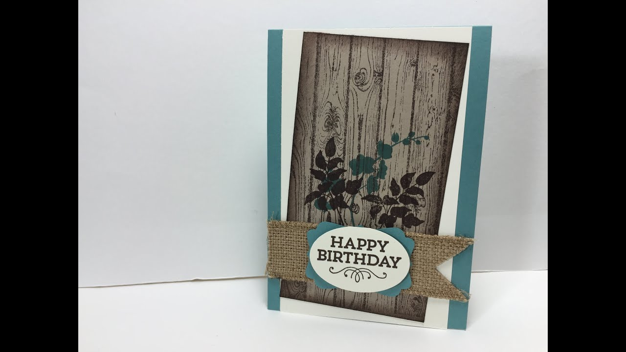 Ophelia Crafts a Male Birthday Card YouTube – Male Birthday Cards