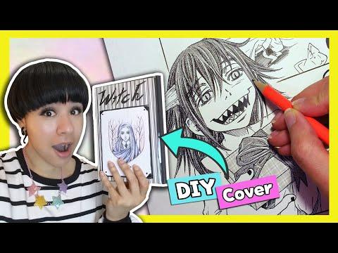 ❤ Using BUDGET Art Supplies to Make Manga / Comics ❤ DIY Sketchbook Cover ❤ For BEGINNERS & KIDS