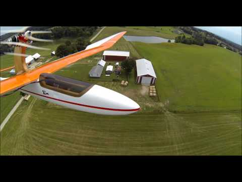 Bird of Time 3M Sailplane Flying on a Summer Day