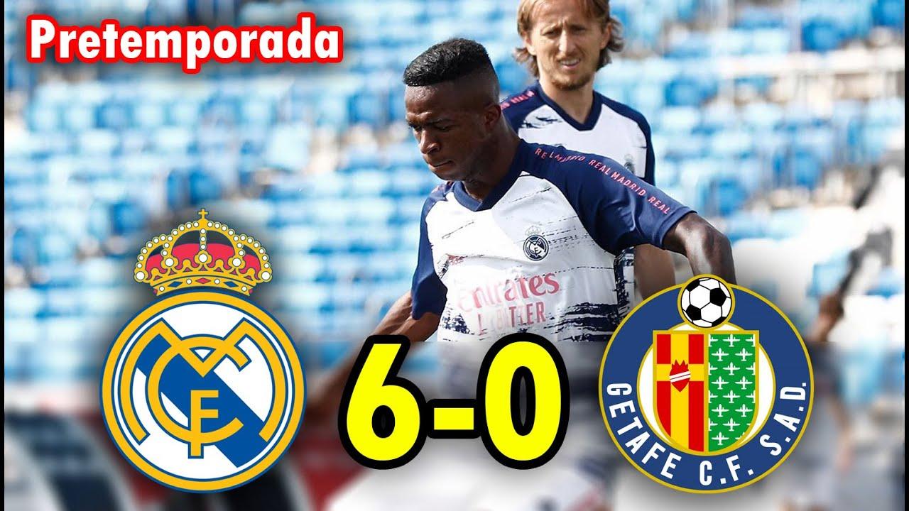 REAL MADRID VS GETAFE 6-0   RESUMEN Y GOLES extended highlights HOY PARTIDO Amistoso PRETEMPORADA