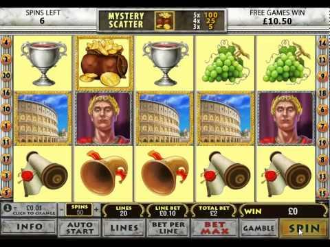 rome and glory slot machine