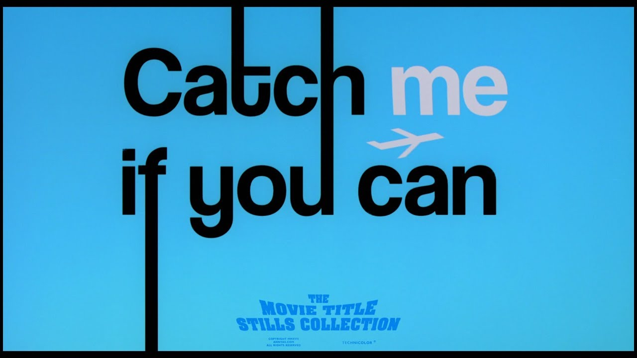 Catch Me If You Can 2002 Title Sequence Youtube