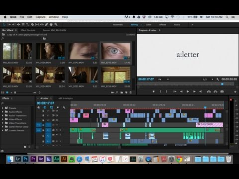 "Short Film Editing Timelapse - ""a:letter"" -  Adobe Premiere Pro CC"
