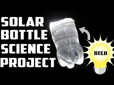 FREE source of Light -  A litre of light. Plastic bottle used as Solar bulb. Amazing.