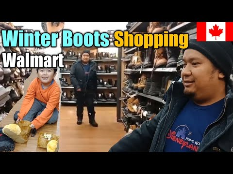 Vlogmas4: Winter Boots Shopping At Walmart||Team Fracer In Moncton Canada
