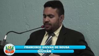 Em pronunciamento vereador Giuvan apresenta reivindicações em defessa dos cidadãos de Quixeré.