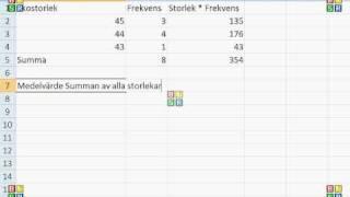 Matematik A Statistik Lägesmått medel median typvärde