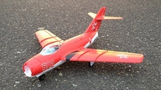 E-Flite UMX Mig-15 DF Ultra Micro EDF Jet Fighter with AS3X Maiden Raw Footage and Bonus Flight