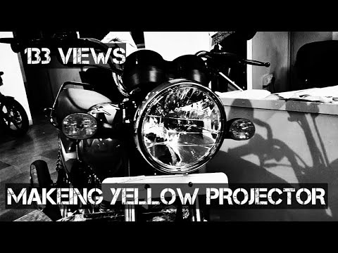 how to tint your projecter yellow DIY video