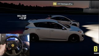 FH2 Airport Drag Build - Mazda Speed 3 w/Gopro Duel Comm