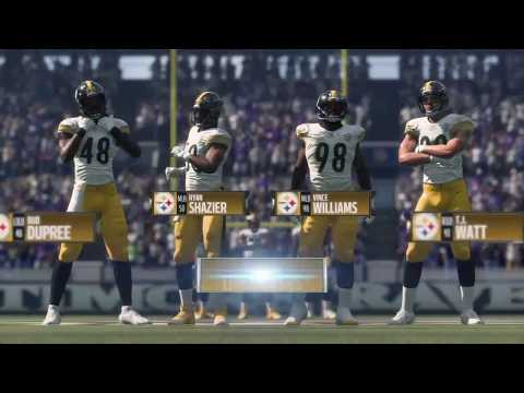Madden 18 - Pittsburgh Steelers vs Baltimore Ravens - Full Game Simulation Nation