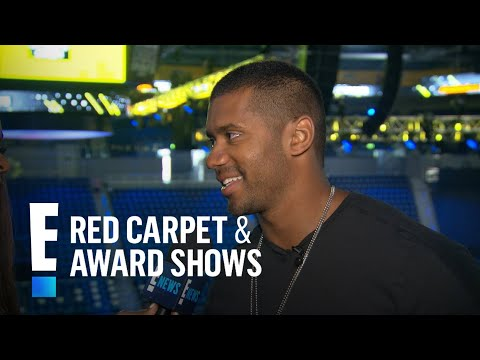 Russell Wilson Talks First Anniversary With Ciara | E! Live from the Red Carpet