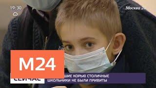 Смотреть видео Заболевшие корью столичные школьники не были привиты - Москва 24 онлайн