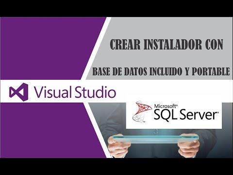 Como Crear Instalador Para Proyectos De  Visual Studio(2017) Incluido La Base De Datos En  Sqlserver