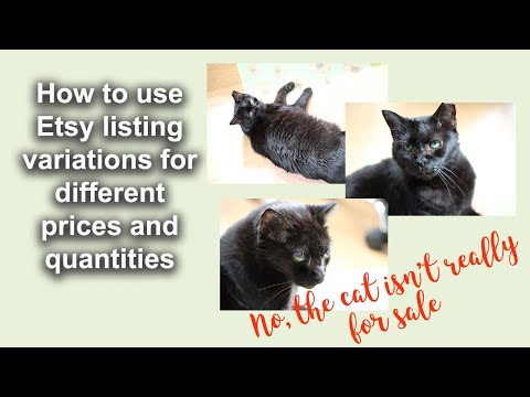How to use Etsy listing variations for different items and prices in one listing.