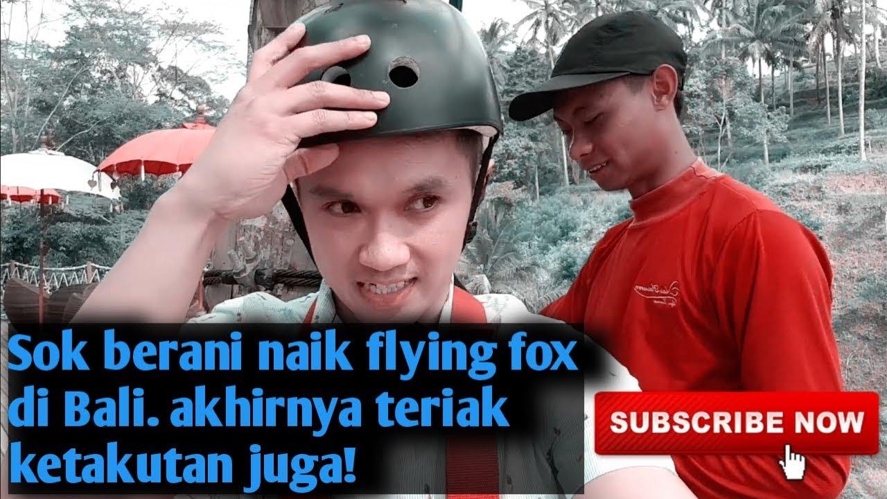 Flying Fox Di Tempat Wisata Baru Di Bali Alas Arum Tegallalang Seru Banget