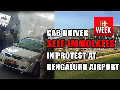 Airport taxi driver sets himself on fire at Bengaluru airport