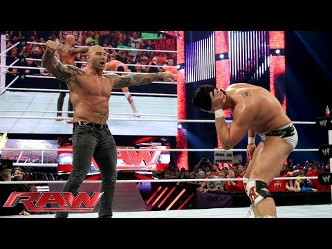 Batista attacks Alberto Del Rio: Raw, Jan. 20, 2014