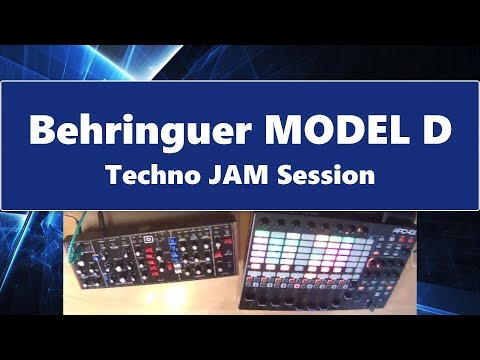 Behringer MODEL D Techno Demo-JAM Session (2018)